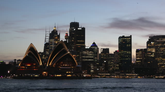 view of sydney skyline, sydney, new south wales, australia, pacific - establishing shot stock videos & royalty-free footage