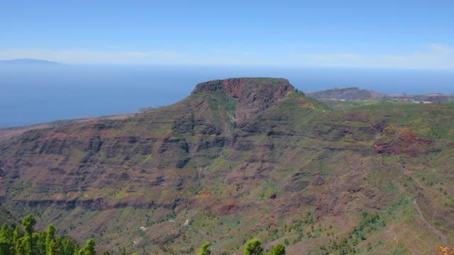 View of Table Mountain - Monumento Natural de la Fortaleza view from Mirador de Igualero on Canary Islands La Gomera - Spain