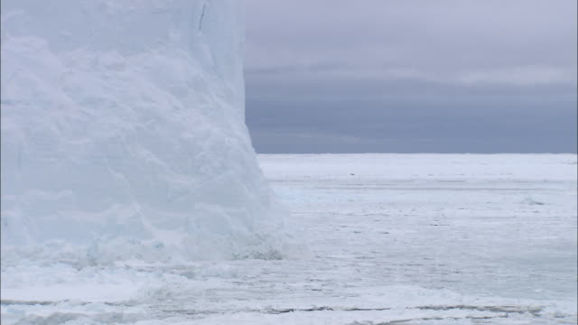 MS POV View of tabular iceberg / Weddell sea, Antarctica