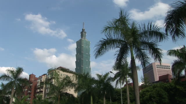 View of Taipei 101 building in Taipei Taiwan