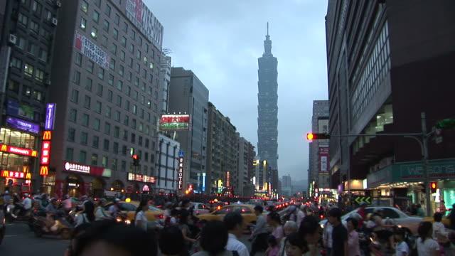 View of Taipei 101 building in Taipei Taiwan