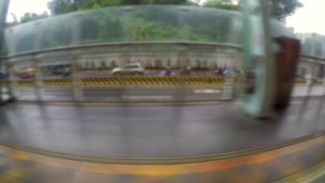 view of taipei from taiwan speed train - vanishing point stock videos and b-roll footage