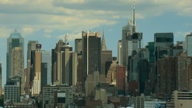 WS View of tall buildings of midtown New York / New York City, New York, USA