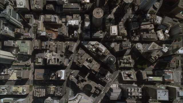 ws zi aerial view of tall modern building / sydney, new south wales, australia - zoom in stock videos & royalty-free footage