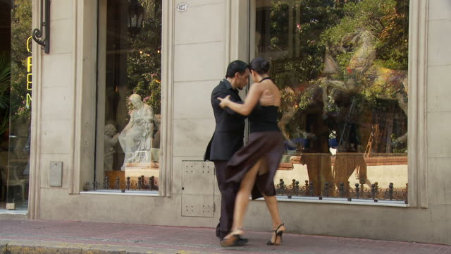 view of tango dancers in buenos aires, argentina - tango dance stock videos & royalty-free footage