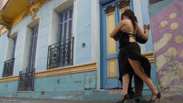 view of tango dancers in buenos aires, argentina - tangoing stock videos & royalty-free footage