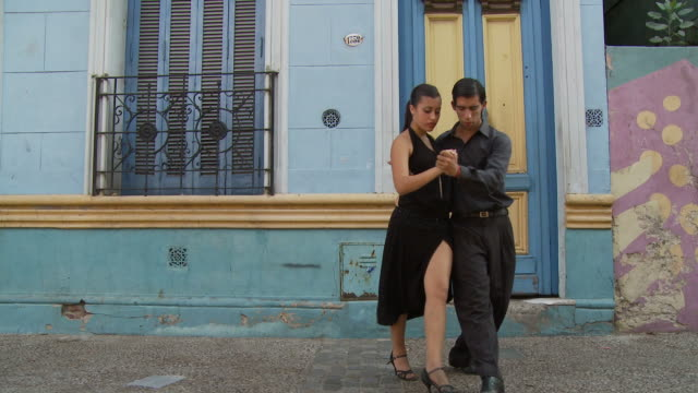 view of tango dancers in buenos aires, argentina - argentinian culture stock videos & royalty-free footage