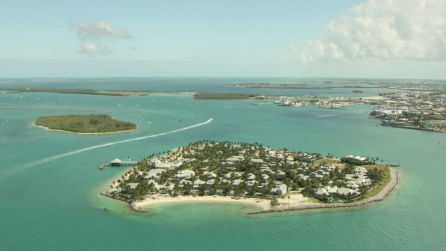 WS AERIAL View of Tank Island / Key West, Florida, United States / Key West, Florida, United States