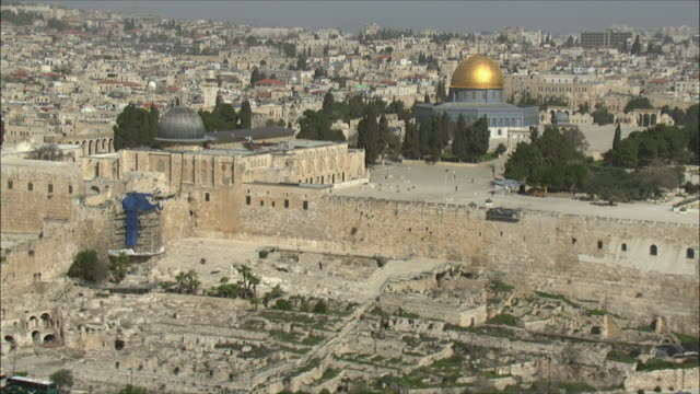 WS PAN View of temple Mount in Jerusalem / Jerusalem, Israel