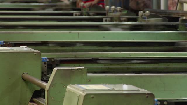 MS View of textile machine, Kanakaria textile mills / Ahemdabad, Gujarat, India
