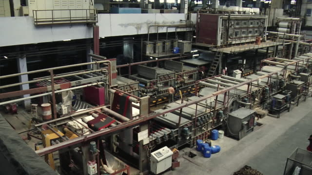 WS PAN View of textile machine, Mangal textile mill / Ahemdabad, Gujarat, India