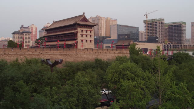 A view of the ancient city wall on June 17 2017 in Xi An China Xi'an is one of the oldest cities in China it is the oldest of the Four Great Ancient...