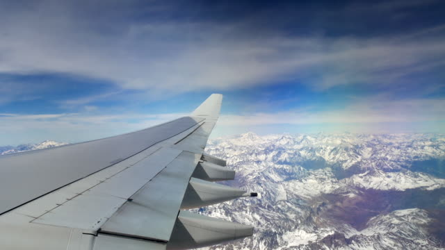 View of the andes from an airplane