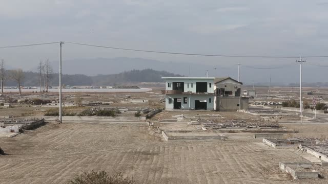 a view of the area damaged by the march 11 2011 earthquake and tsunami in namie fukushima prefecture japan on saturday feb 13 a toilet is seen at a... - evacuation stock videos & royalty-free footage
