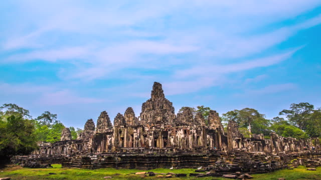 MS DS T/L View of The Bayorn Temple in Angkor Wat / Angkor, Siem Reap, Province Colombia
