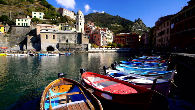 View of the beautiful  Vernazza village in summer in the Cinque Terre area, Italy
