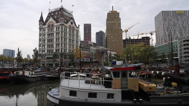 stockvideo's en b-roll-footage met view of the building called 'whitte huis' built in 1897 and spared by bombing on october 19, 2020 in rotterdam, the netherlands. almost completely... - famous place