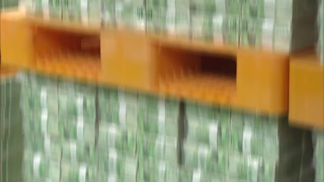 vídeos y material grabado en eventos de stock de view of the bundles of paper money(ten thousand won) in south korea - manojo