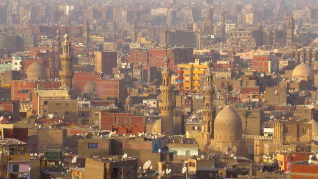 view of the cairo city from a high ground. - cairo stock videos & royalty-free footage