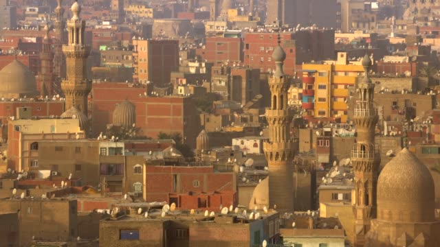 view of the cairo city from a high ground. - egypt stock videos & royalty-free footage