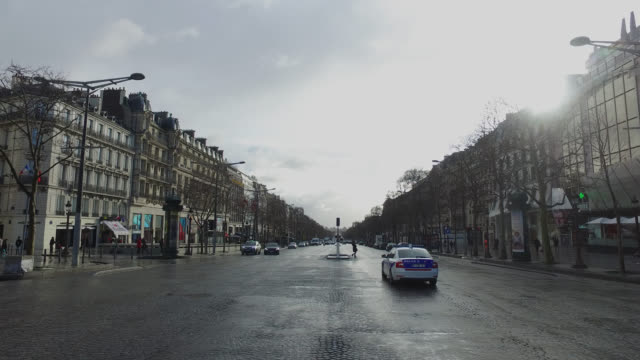 view of the champs elysées, paris - france stock videos & royalty-free footage