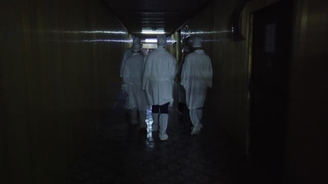 view of the chnpp golden corridor in chernoby at the chernobyl nuclear plant, in chernobyl, on june 18, 2019. the chernobyl disaster was a... - nuclear reactor stock videos & royalty-free footage