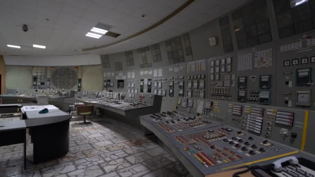 view of the chnpp reactor 3 unit control room in chernobyl on june 18, 2019. the chernobyl disaster was a catastrophic nuclear accident that occurred... - nuclear reactor stock videos & royalty-free footage