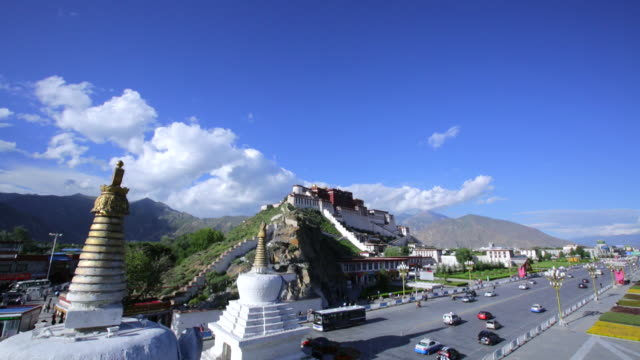 View of the city and mountains in Lhasa, Tibet