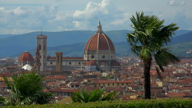 View of the City with Santa Maria del Fiore Cathedral, Florence, Tuscany, Italy