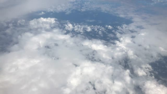 View of the clouds from a plane