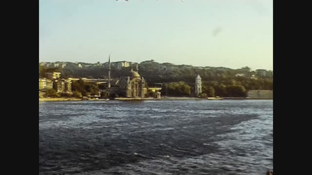 view of the coast of istanbul in 70's - istanbul stock videos & royalty-free footage