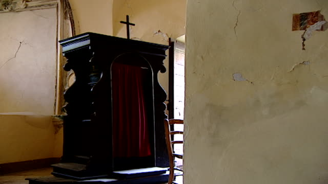 view of the confessional in the church of saint maron in volperino. during the crusades the relics of saint maron, founder of the maronite order,... - the crusades stock videos & royalty-free footage