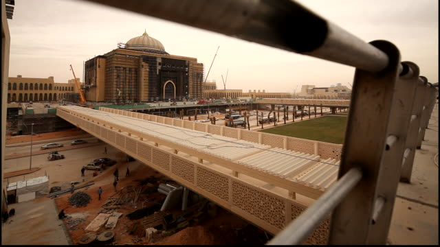 view of the construction site at the princess nora bint abdel rahman university in riyadh the university was the first college of education for women... - saudi arabia stock videos & royalty-free footage