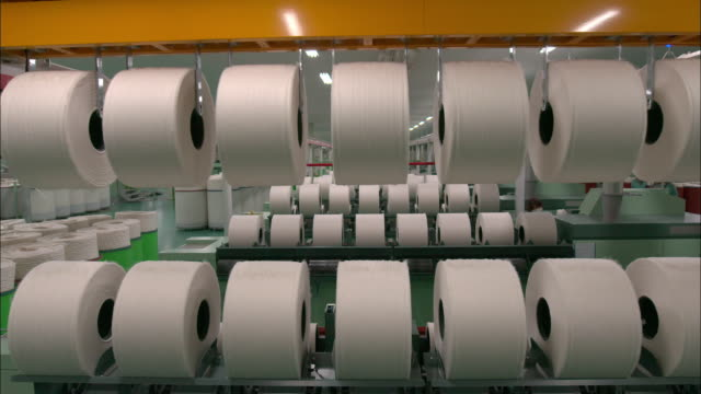 view of the cotton weaving machine operation in london, england - textile industry stock videos & royalty-free footage