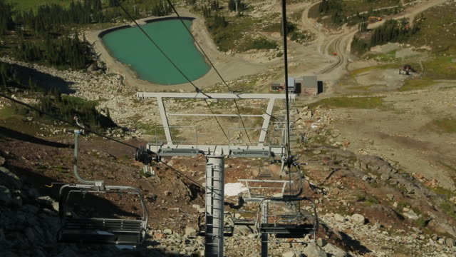 a view of the downhill chairlift - ski lift point of view stock videos & royalty-free footage