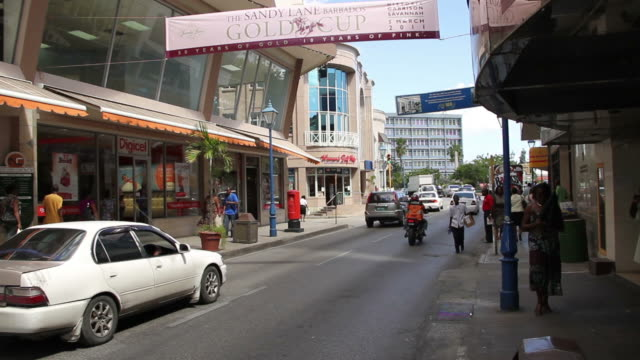 View of the downtown Bridgeport, Barbados