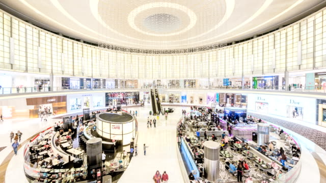 View of The Dubai Mall and Large Group Of People