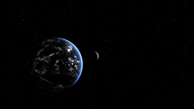 ws ts view of the earth and moon from space / bergen, hordaland, norway - turning stock videos & royalty-free footage