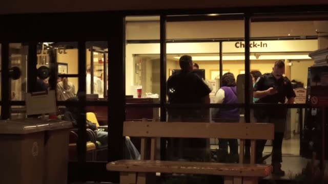 a view of the emergency entrance of the linda university medical center where the injured people taken after the san bernardino shootings in san... - persons with disabilities stock videos & royalty-free footage
