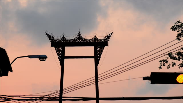View of the Giant Swing top Bangkok Thailand