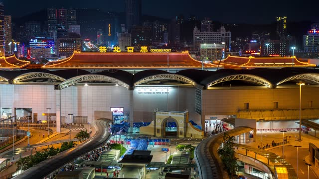 vidéos et rushes de view of the gongbei port on august 8, 2020 in macao, china. - macao