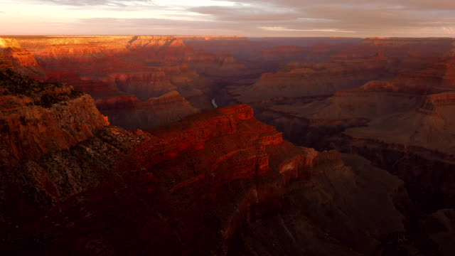 view of the grand canyon in the sun, arizona, usa - red cloud sky stock videos & royalty-free footage