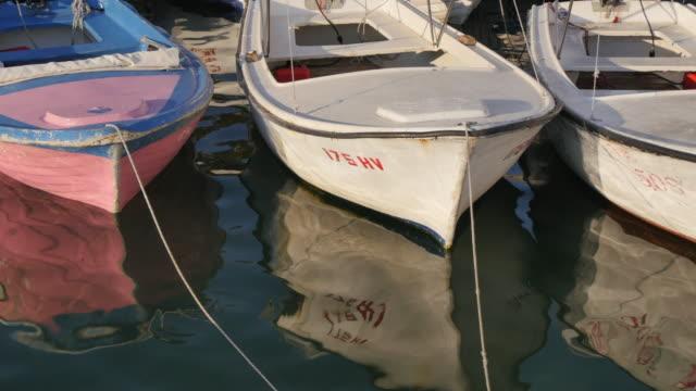 View of the harbour boats of Hvar, Hvar Island, Dalmatia, Croatia, Europe