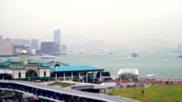 ansicht der hong kong bucht - insel hong kong island stock-videos und b-roll-filmmaterial