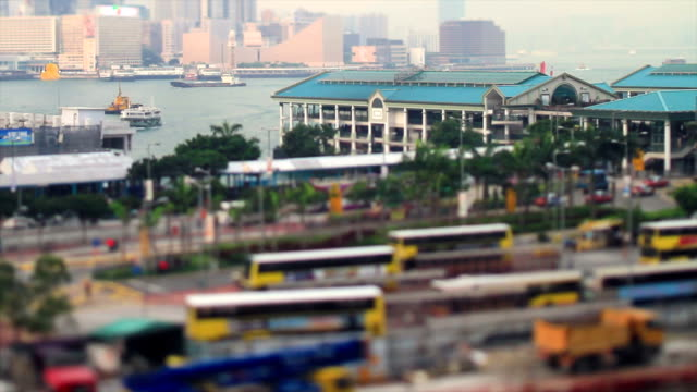 Uitzicht op de Hong Kong baai