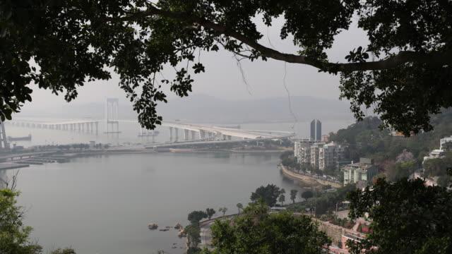 View of the HongKongZhuhaiMacao Bridge Main Bridge
