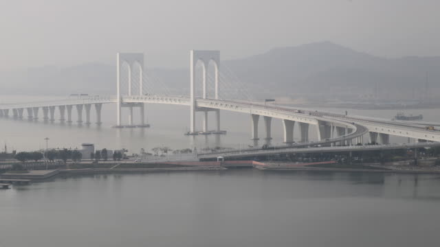 View of the HongKongZhuhaiMacao Bridge Main Bridge