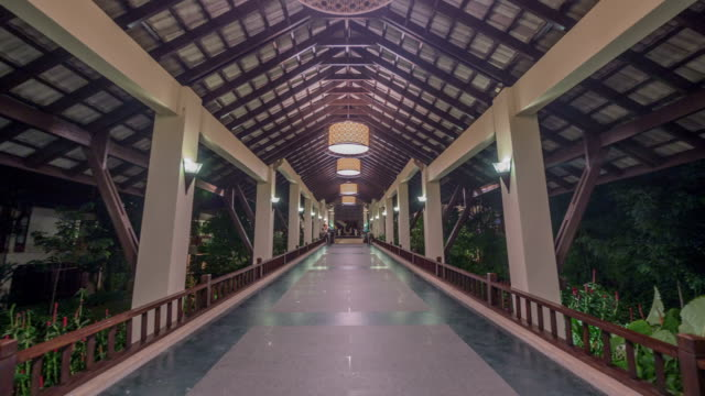 view of the hotel lobby in phuket, thailand - phuket stock videos & royalty-free footage