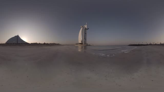 VR view of the iconic Burj al Arab Jumeirah building in Dubai UAE