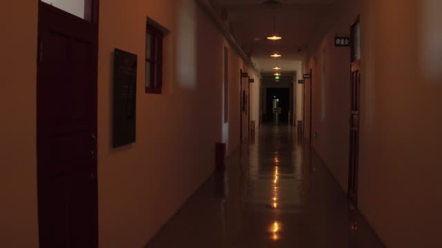 view of the inside of main building of japan germ factory in the exhibition hall of crime evidence of japanese germ factory on may 19, 2017 in... - depression land feature stock videos & royalty-free footage
